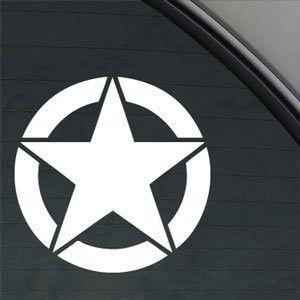 Wwii Jeep Star Army Marines Decal Window Sticker Jeep Jeep Cars
