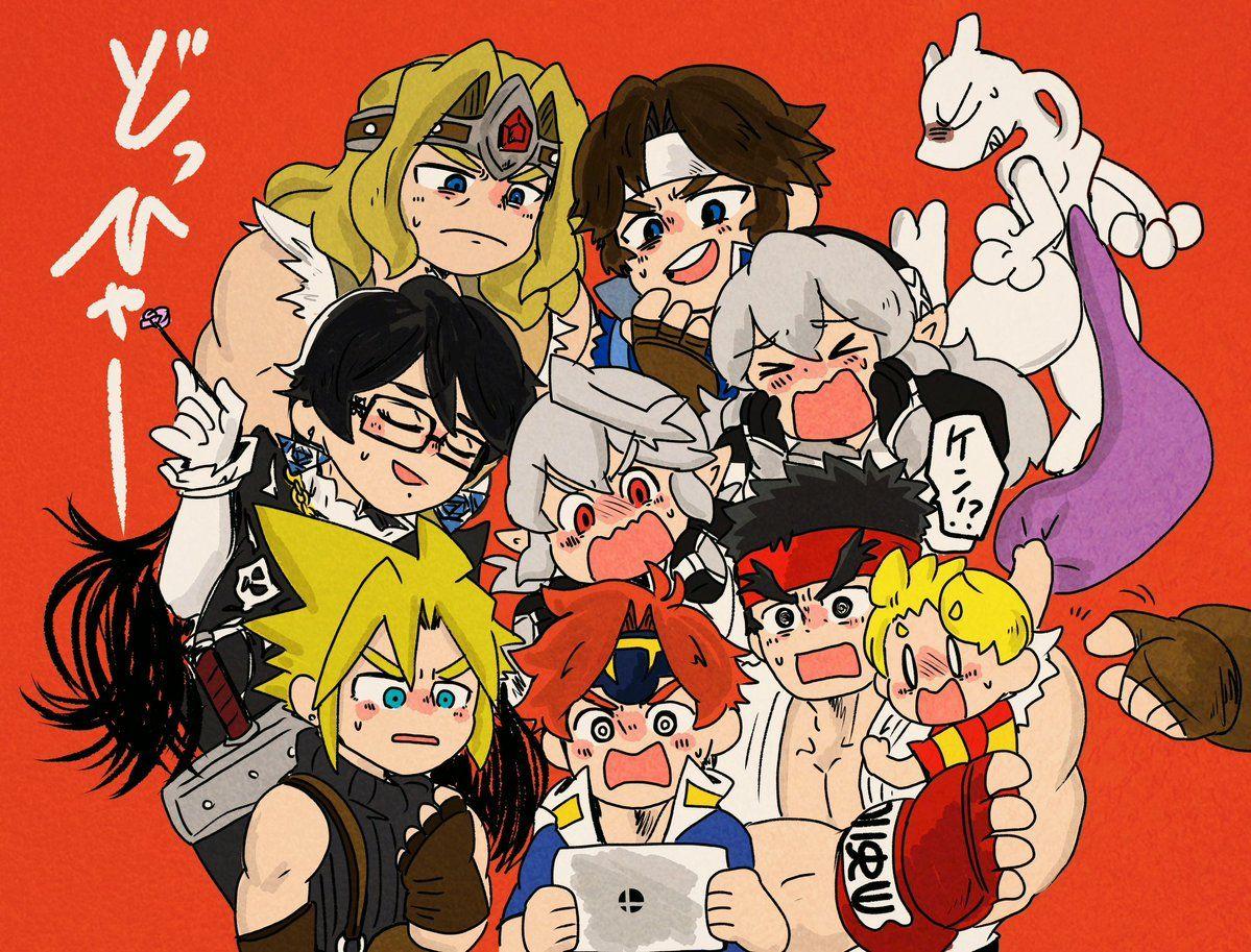 Ryu holding Lucas | Super Smash Bros comics & art | Nintendo