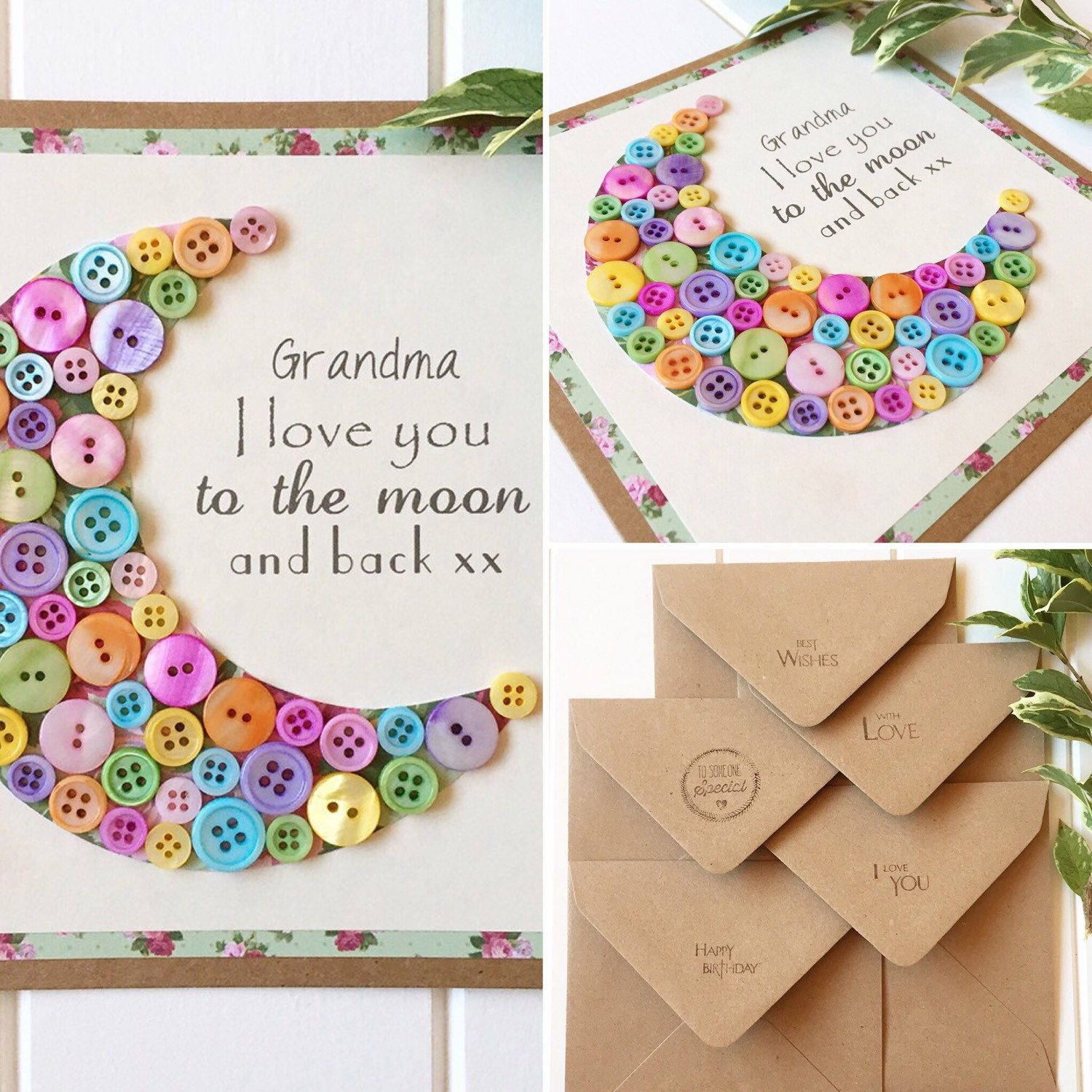Raised Words I Love You To The Moon and Back Personalised Baby Keepsake Box Gift