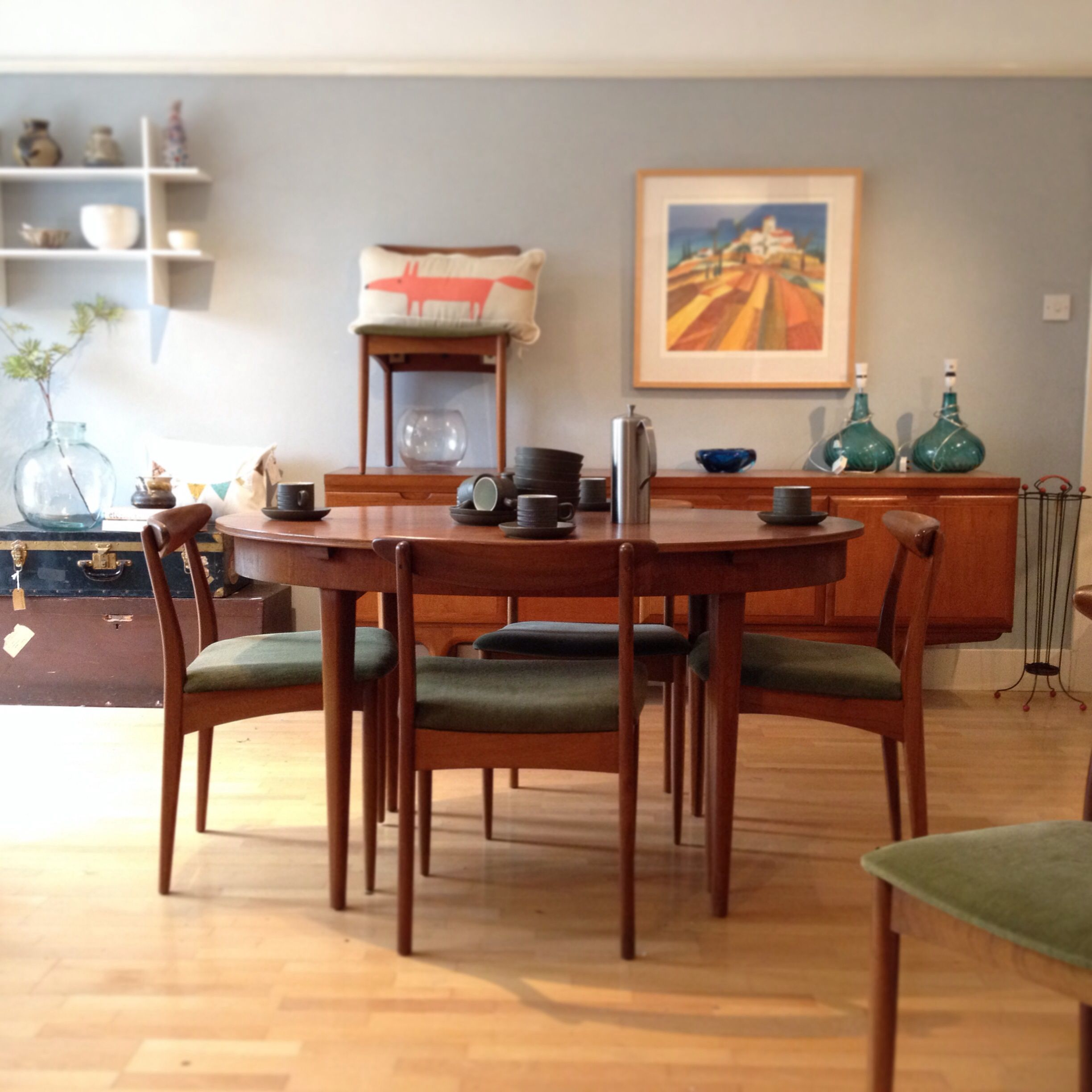 Sixties Retro Danish Style Teak Dining Room Furnitureat Nina's Delectable Retro Dining Room Tables Inspiration