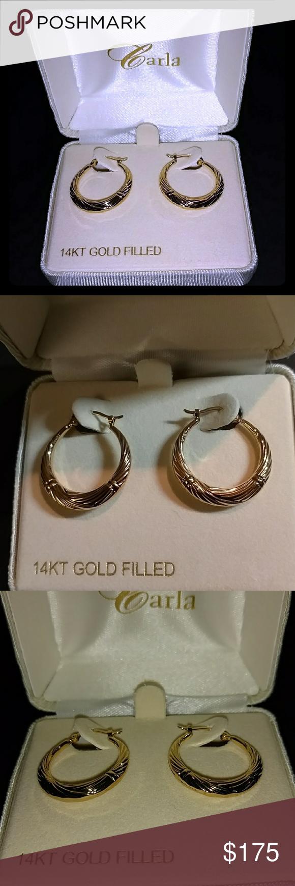 Body piercing earrings  Carla gold hoop earrings  Gold hoops Smoke free and Piercing