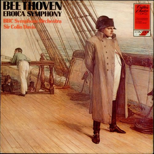 Beethoven Eroica record cover - with Bonaparte on the cover