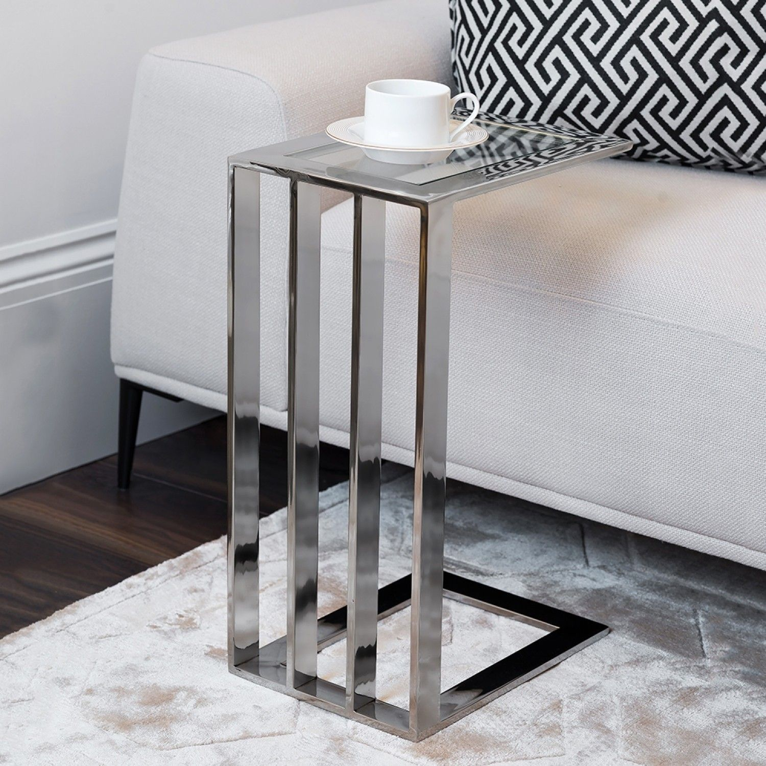 Monaco Slim Side Table Luxury Furniture Living Room Living Room