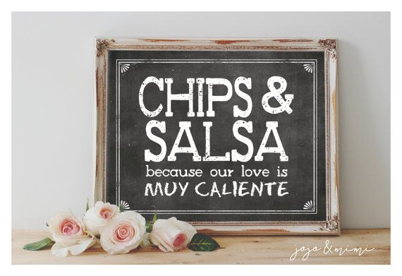 Instant 'CHIPS & SALSA because our love is muy by JoJoMiMi on Etsy