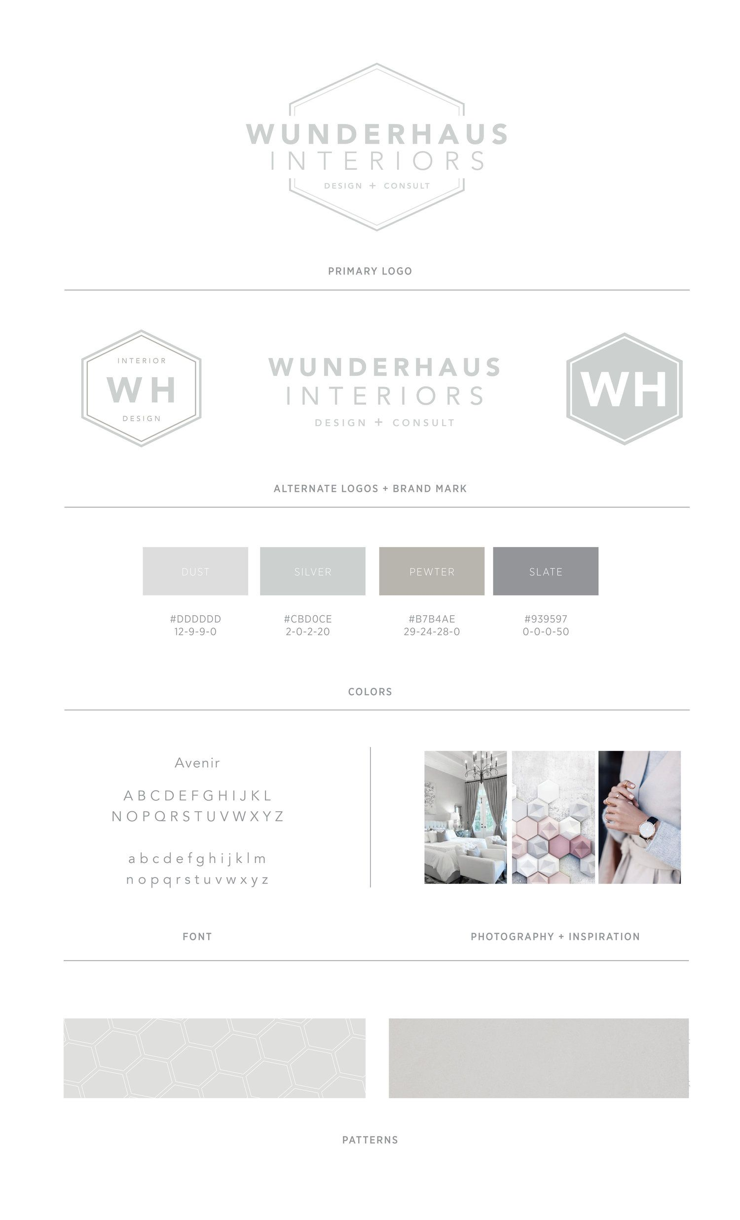 Bad design logo branding design for wunderhaus interiors  casilong