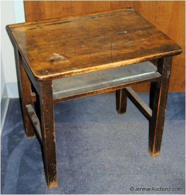Vintage Milton Bradley Co. Wooden School Desk | FLIPS in ...