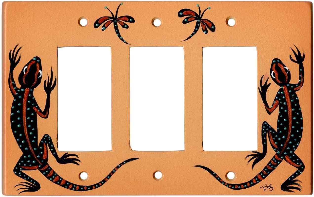 Black Lizard On Sand Wall Plates Outlet Covers 100 Handmade Light Switchplates Switch Wallplates Rocker