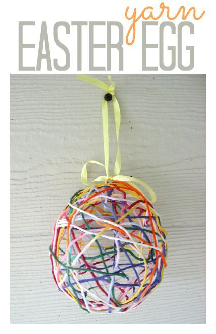 yarn easter egg craft egg crafts easter traditions and easter