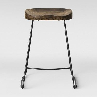 Miraculous Hull Low Back Counter Stool Wood Metal Black Project 62 Creativecarmelina Interior Chair Design Creativecarmelinacom