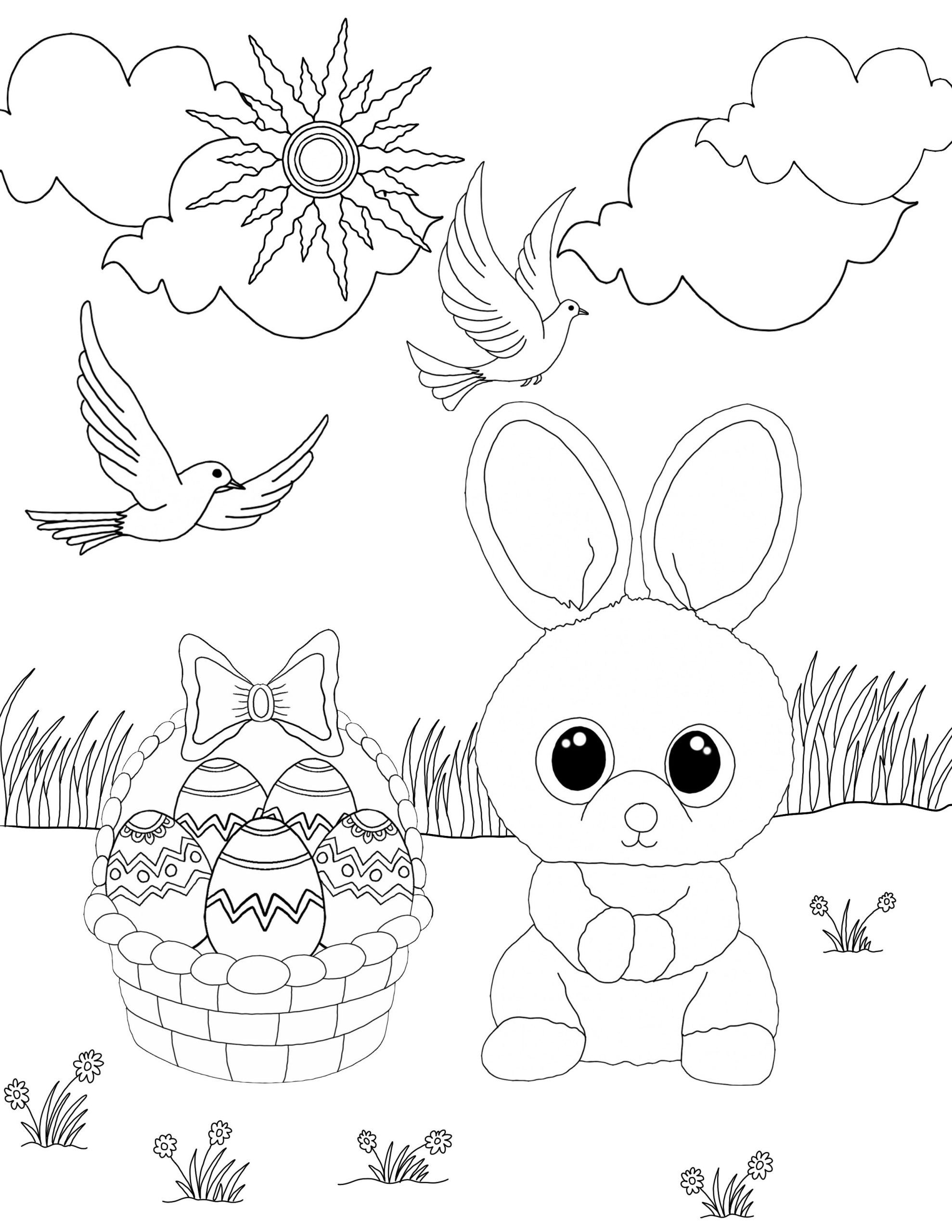 Baby Bunny Coloring Pages Rabbit Colouring Bugs Printable Easter