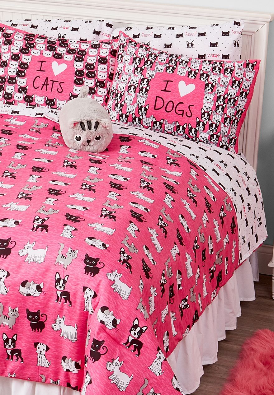 Cats Amp Dogs Bed In A Bag Queen Full Sizes Tween Girls