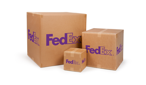 3 Square Brown Fedex Boxes Shipping Supplies Box Packing Services