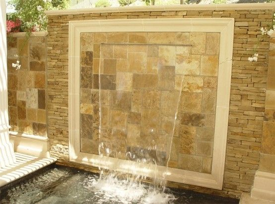 cascada para jardin en pared | Waterwall Fountain Ideas | Pinterest ...