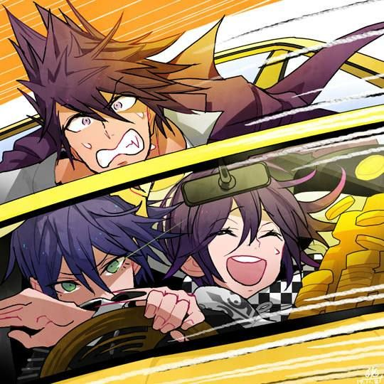 Shuichi tries to drive but Ouma is honestly those freaking