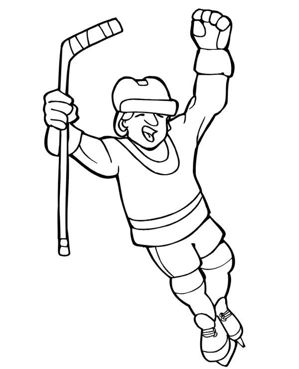 Hockey Player Score Coloring Page Netart Hockey Players Coloring Pages Hockey Player Quotes