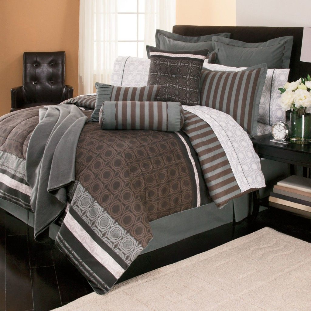 bedroom: comforter sets queen black and white bedding shabby chic