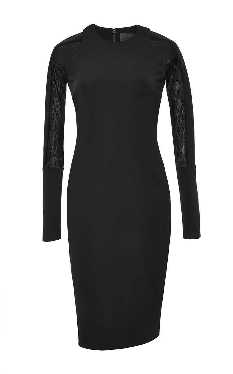 Mesh-paneled Stretch-jersey Midi Dress - Black Cushnie et Ochs