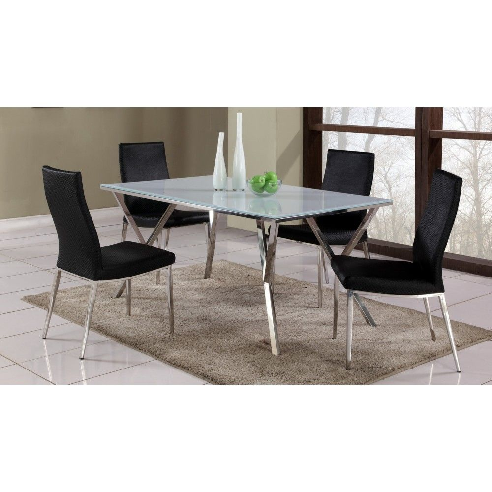 Jade Dining Set Table And 4 Jamila Chairs By Chintaly Imports