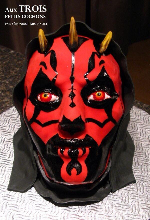 Darth Maul Cake Star Wars Adult Birthday Cakes Pinterest