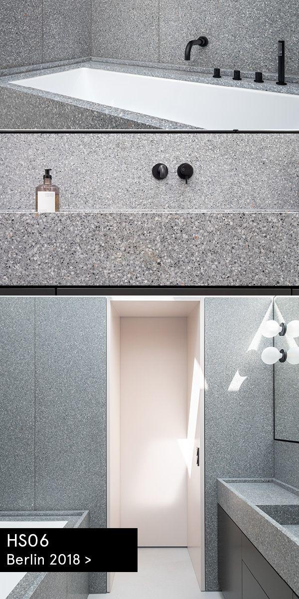 Photo of Private Apartment, Terrazzo Bathroom, Berlin / Design Batek Architects