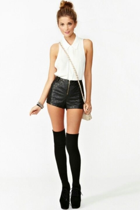 Hot pants can come in any fabric to either dress up or