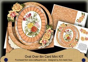 Borange Bouquet Florals Oval Over 3D Mini Card Kit
