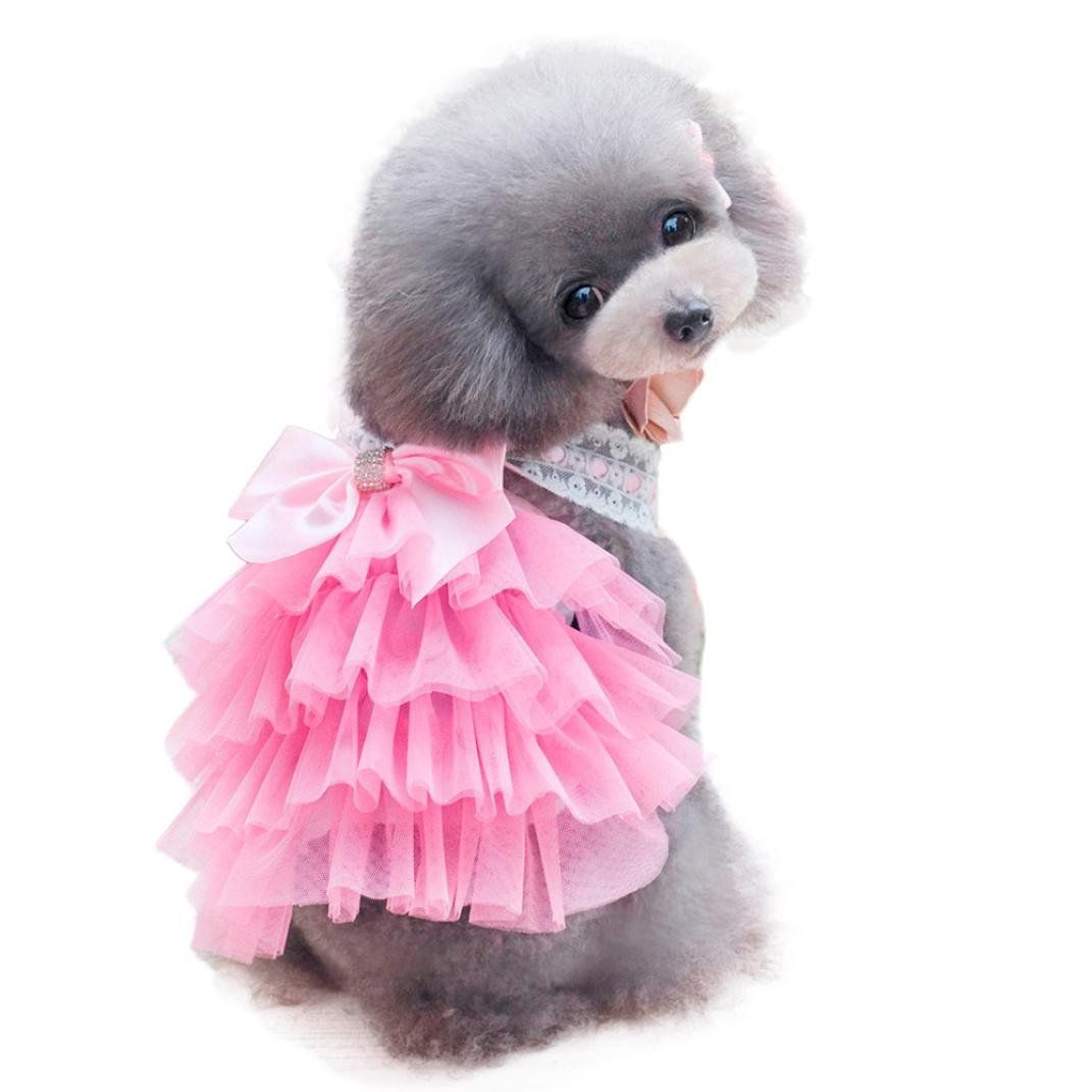 Voberry Summer Pet Puppy Dogbaby Bowkont Adorable Skirt Dress Apparel For Small Medium Dog See This Great Product This Dog Clothes Pet Costumes Dog Bows