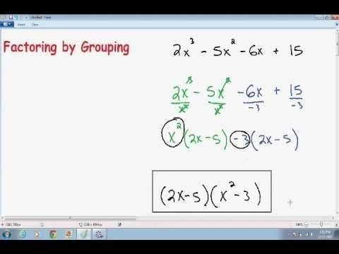 Watch this video to learn how and when to apply factoring by grouping.