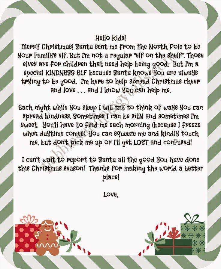 elfletter5.jpg 736×898 pixels Kindness elves, Elf