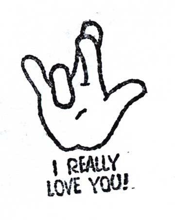i love you gesture