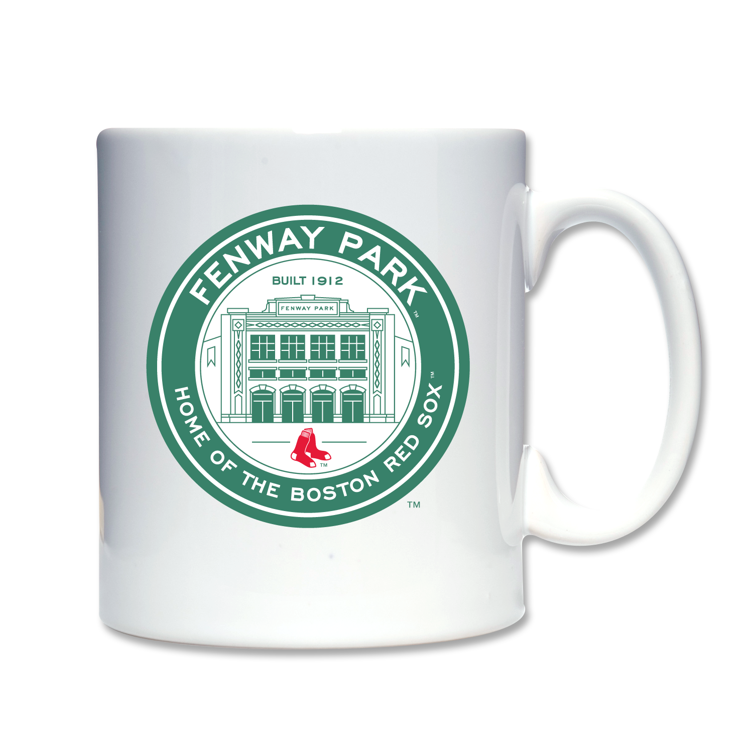 Coffee Mug Fenway Coin Logo Mugs, White coffee mugs
