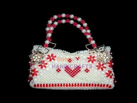 258c9ad6461 পুতির ব্যাগ/How to make a beaded Bag (part-1)/Beaded Rumali Bag. - YouTube