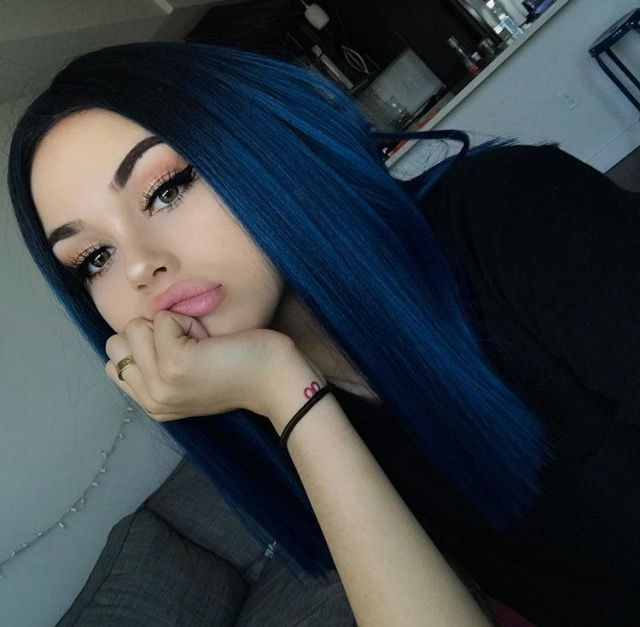Maggie Lindemann Blue Hair Do Dark Blue Hair Wig