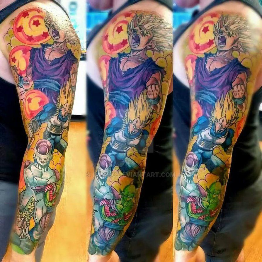 Dragon Ball Tattoo Forearm: DBZ Full Sleeve WIP By RAAMC On DeviantArt