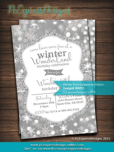 Winter Wonderland Invitation Christmas Greeting Cards And Filing