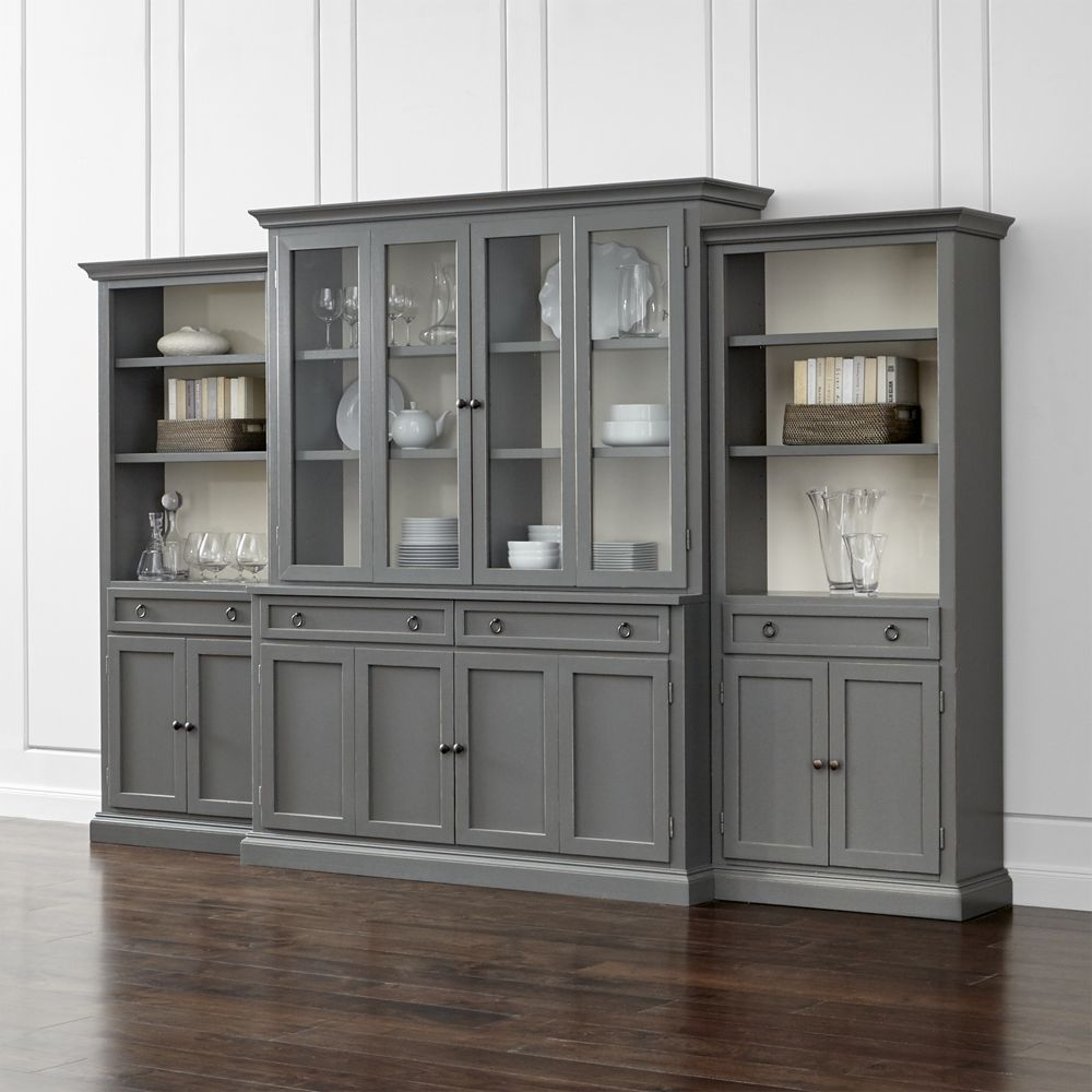 Cameo Blue Grey Modular Storage And Media Pieces