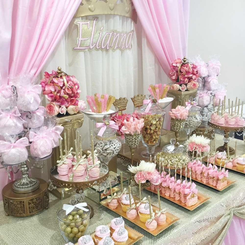 Princess baby shower party ideas princess baby showers for Baby party decoration