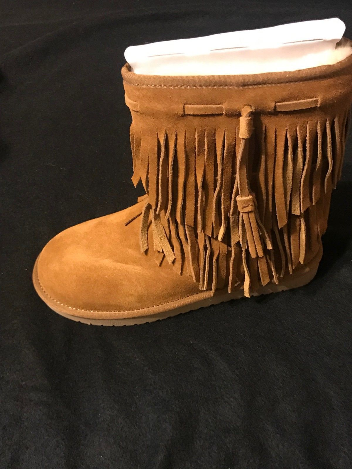 8fda7590133 Details about NIB Women's Koolaburra BY UGG Fringe Cable Tall Winter ...