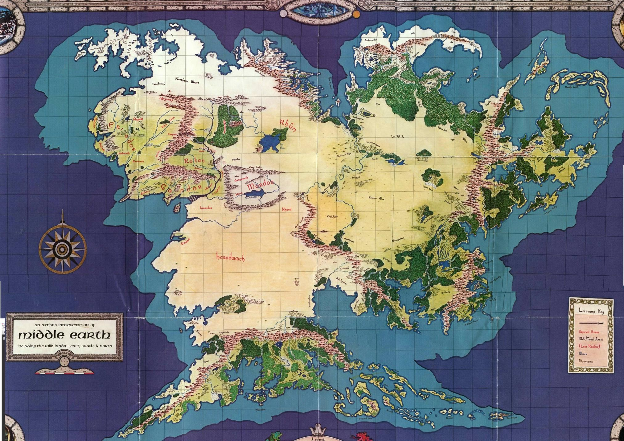 Best Middle Earth Map Of Noticeable | Map/ LOR info | Middle earth