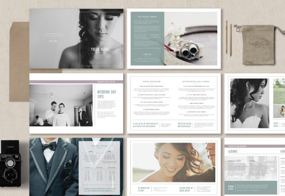 Wedding Photographer Magazine by Bittersweetdesignboutique on @creativemarket