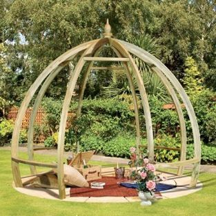 Apollo Pergola - I love the domed design of this contemporary pergola, for so often they are just square. You could grow a climbing rose, ho...