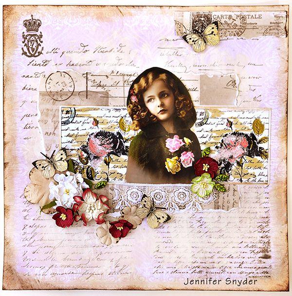Vintage Rose Garden - Inkido - Scrapbook.com