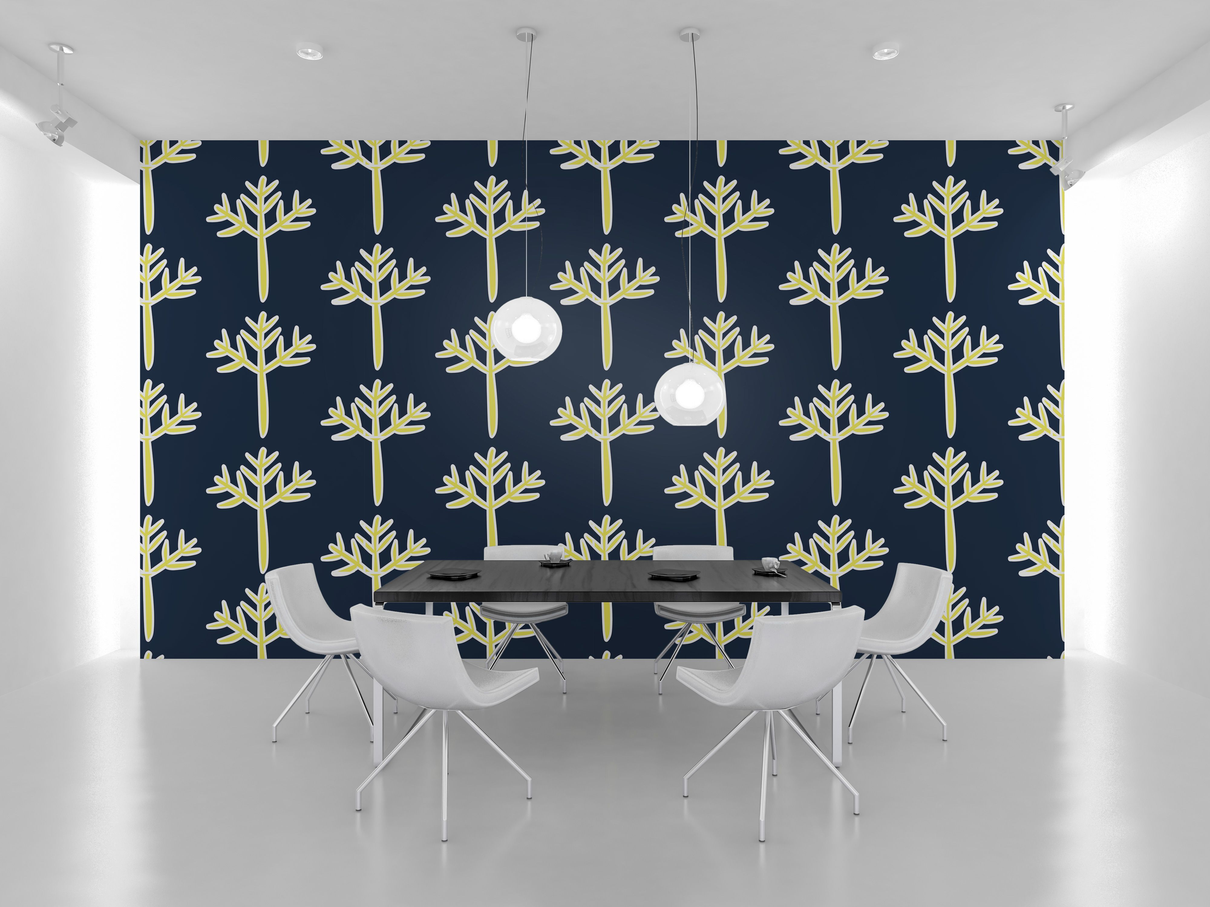 Golden tree pattern used as an wall art for office. #pattern #interior #design #vector #home #decor & Golden tree pattern used as an wall art for office. #pattern ...