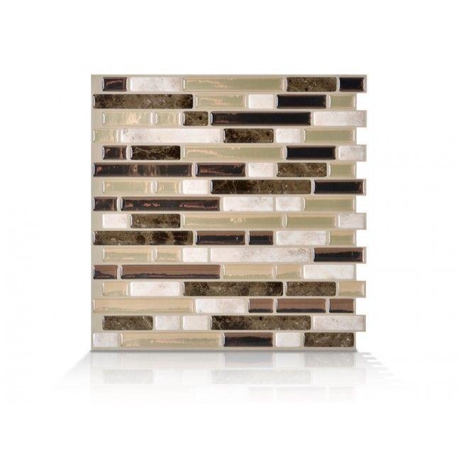 Smart Tiles Sm1042 6 Self Adhesive Wall Tiles 6 Sheets Bellagio Bello 4 2 Sq Ft Smart Tiles Vinyl Wall Tiles Wall Tiles