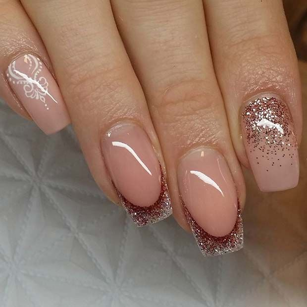 23 Gorgeous Glitter Nail Ideas For The Holidays Glitter French