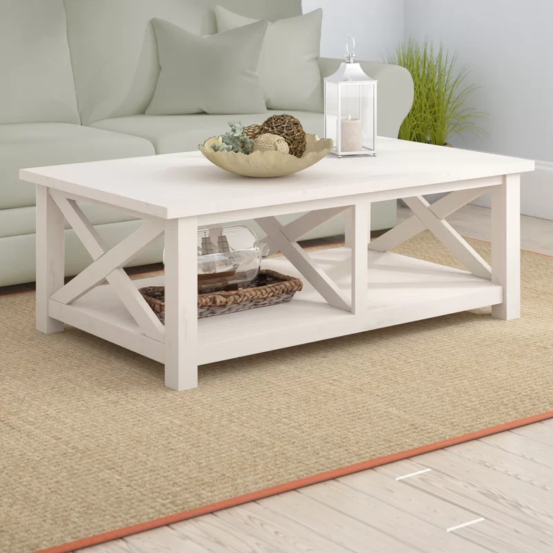 Ruffner Solid Wood Coffee Table with Storage in 2020