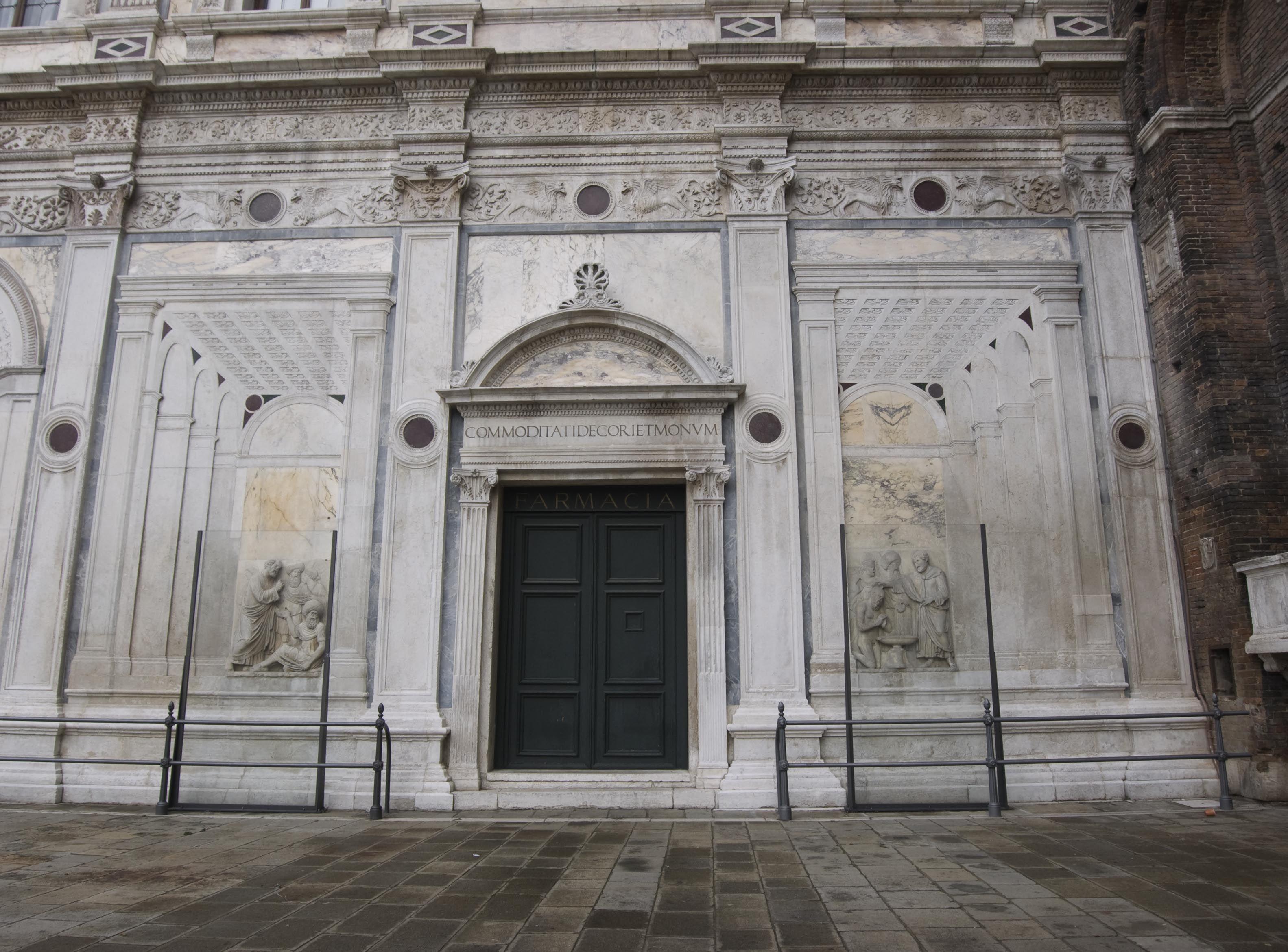 Basillica di San Giovanni e Paolo & Vicinity - Venice, Italy   Façade Scuola Grande di San Marco - Relief Sculpture by Tulio Lombardo