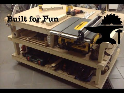 Un Etabli Pour Ma Scie Sur Table Par Built For Fun Fabrication Meuble Plans De Meubles Machine Bois