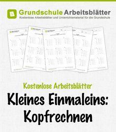 Arbeitsblatt: Kleines 1x1: Kopfrechnen - Gemischte Aufgaben 01 | School