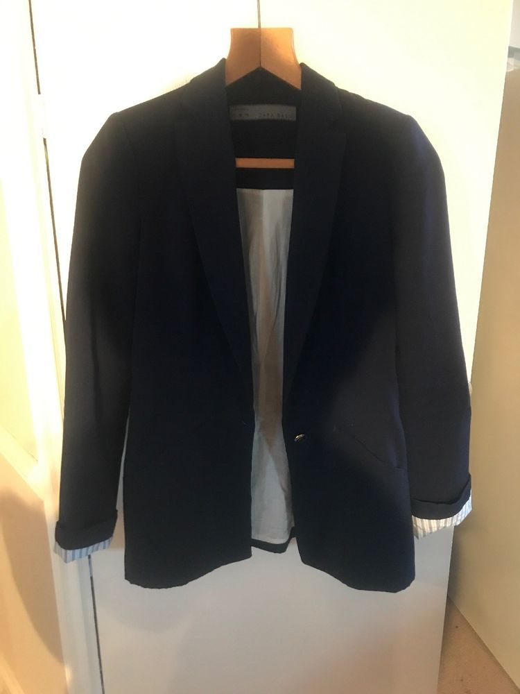 b9e5bd26589f6 Zara Navy Ladies Blazer Size XS  fashion  clothing  shoes  accessories   womensclothing  coatsjacketsvests (ebay link)